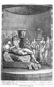View of Coade stone statues including the   River God Thames inside the kiln   from European Magazine  and London Review Volume 11 (1787)