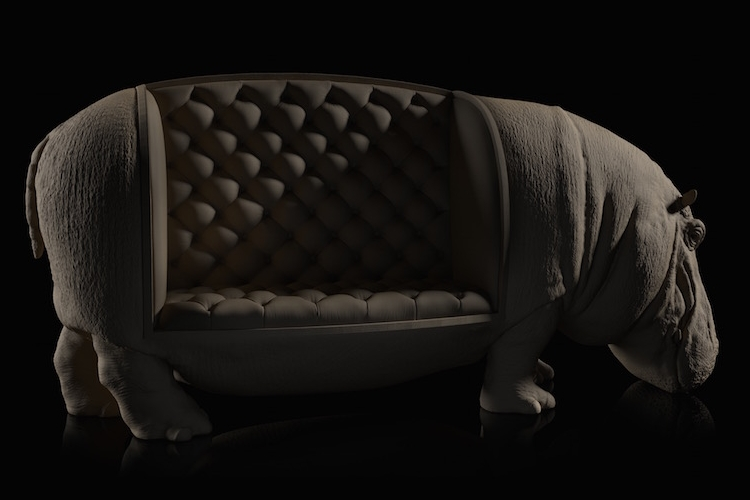03-Hippo-Hippopotamus-Maximo-Riera-Animal-Shaped-Furniture-Chairs-and-Sofas-www-designstack-co