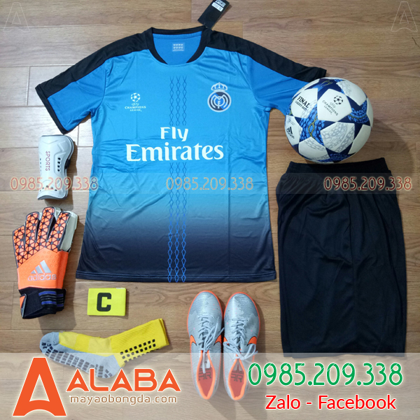 Áo CLB Real 2019 màu xanh