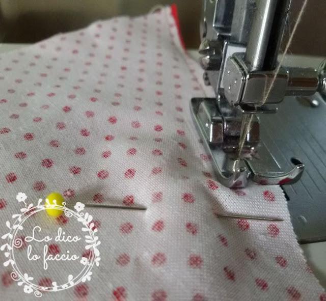 cucire lati