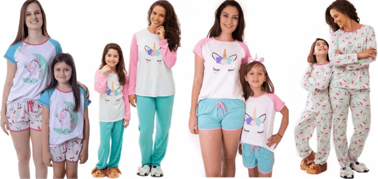 pijamas unicórnio