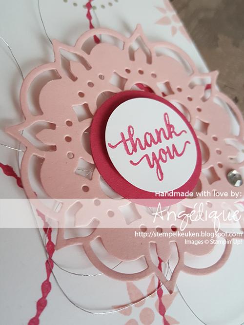 http://stempelkeuken.blogspot.com/2017/05/stampin-up-eastern-palace-suite-dag-5.html #stempelkeuken #stampinup #stampinupnl #workshop #wedding #bruiloft #thankyou #kado #handmade #homemade #withlove #echtepostiszoveelleuker #snailmail #stempelen #papercrafting #creatief #create #roze #pink #denhaag #thehague #zuidholland #westland #sweet #gold #goud #glitter #embossing #snailmail #kaartenmaken
