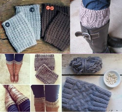 Boot Cuffs - Free Knitting Patterns