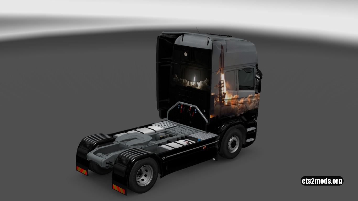 Scania RJL Space Shuttle Skin
