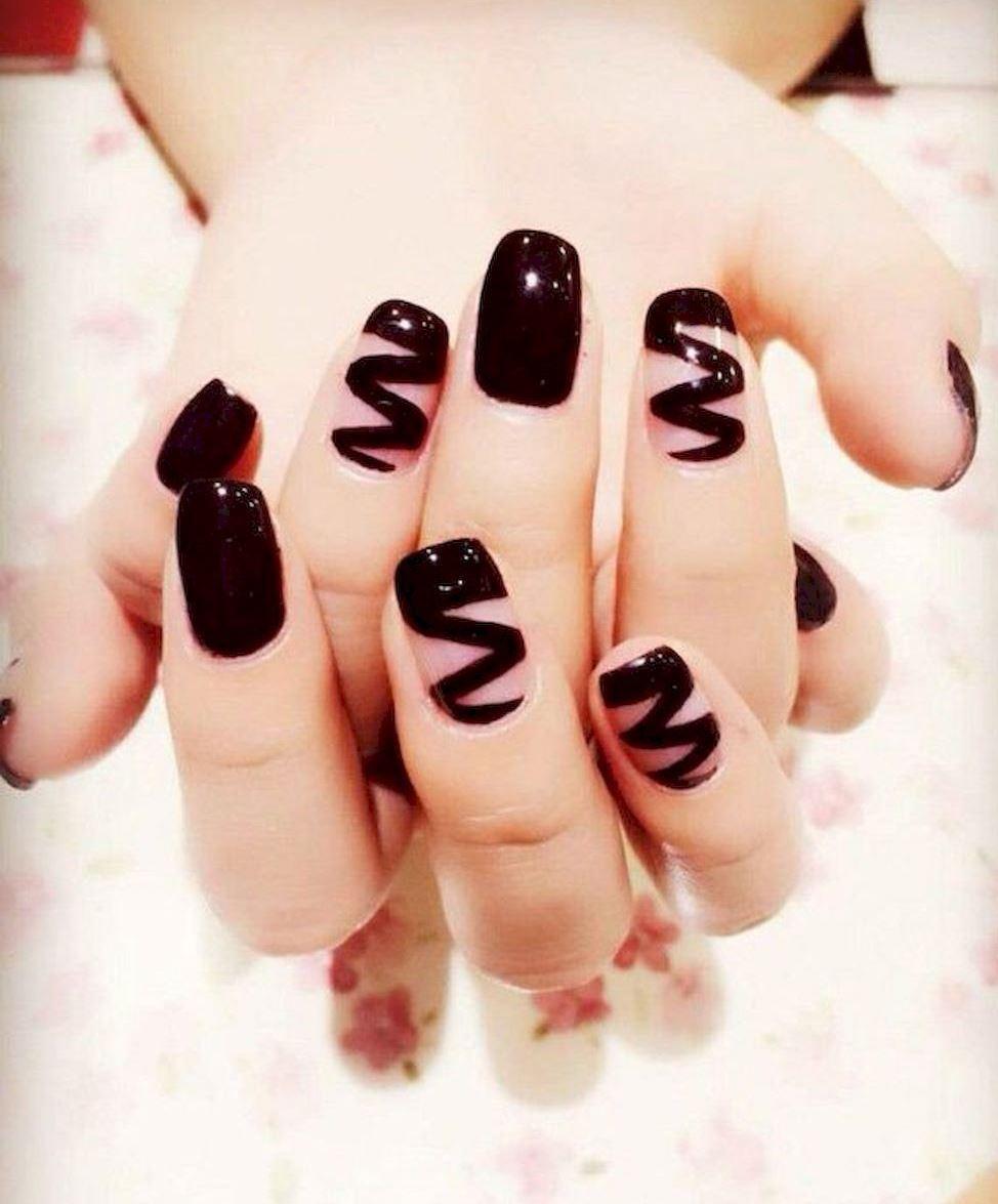 best black nail art designs