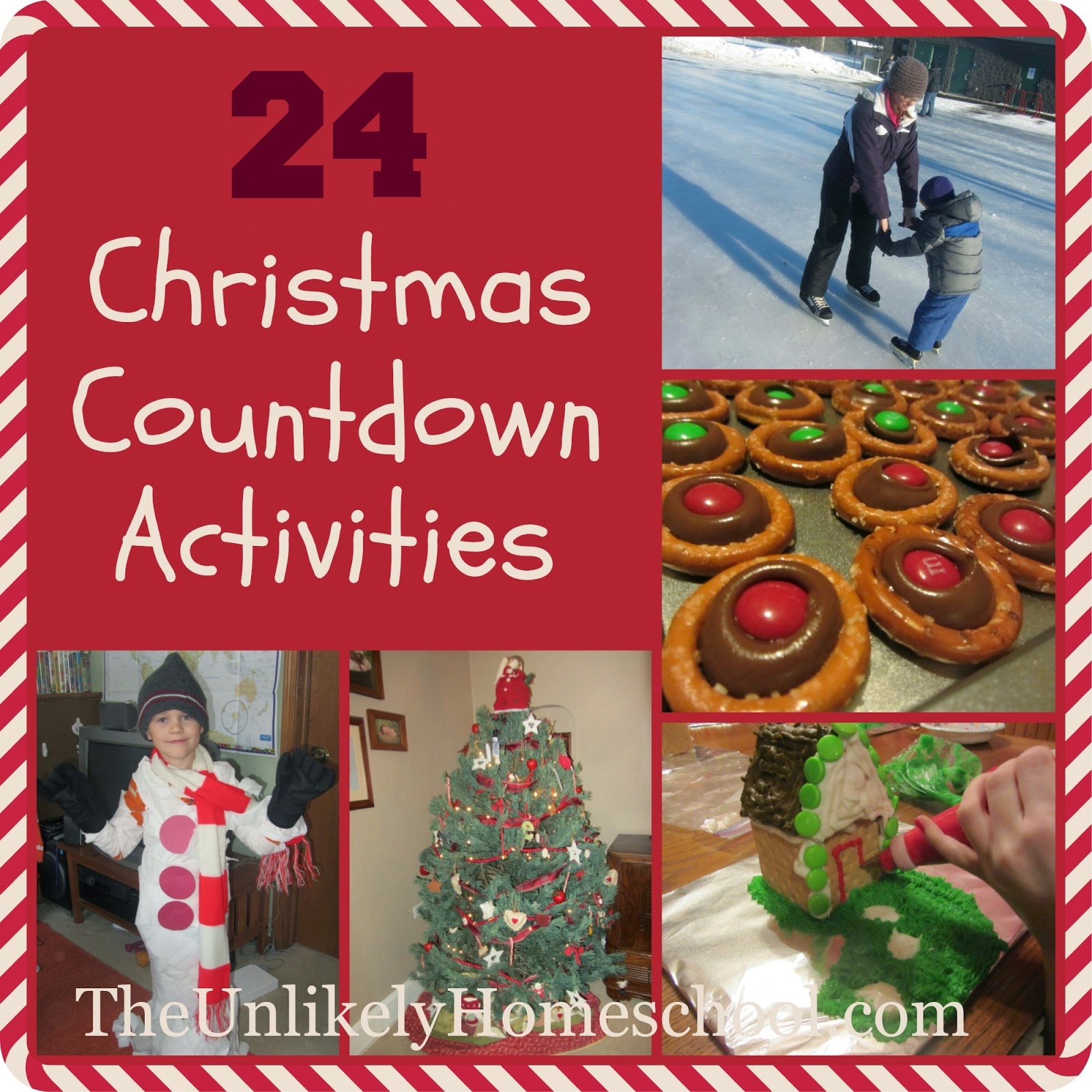 24 Christmas Countdown Activities {The Unlikely Homeschool}