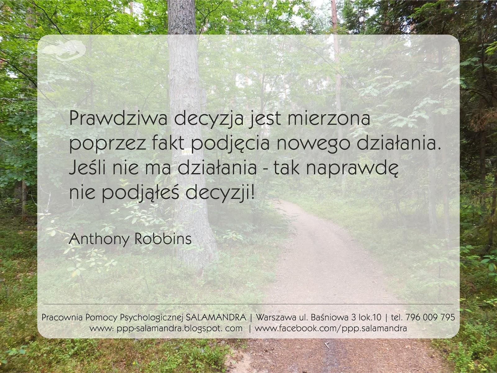 Dobry psycholog Warszawa o decyzji i działaniu