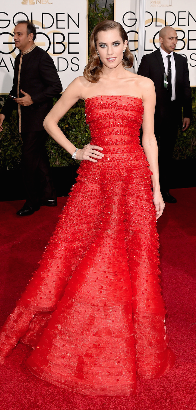 Allison Williams 2015 Golden Globe Awards