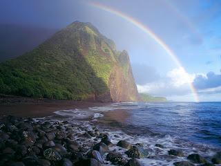 Misty Rainbow252C Waialu Valley252C Molokai252C Hawaii   erc