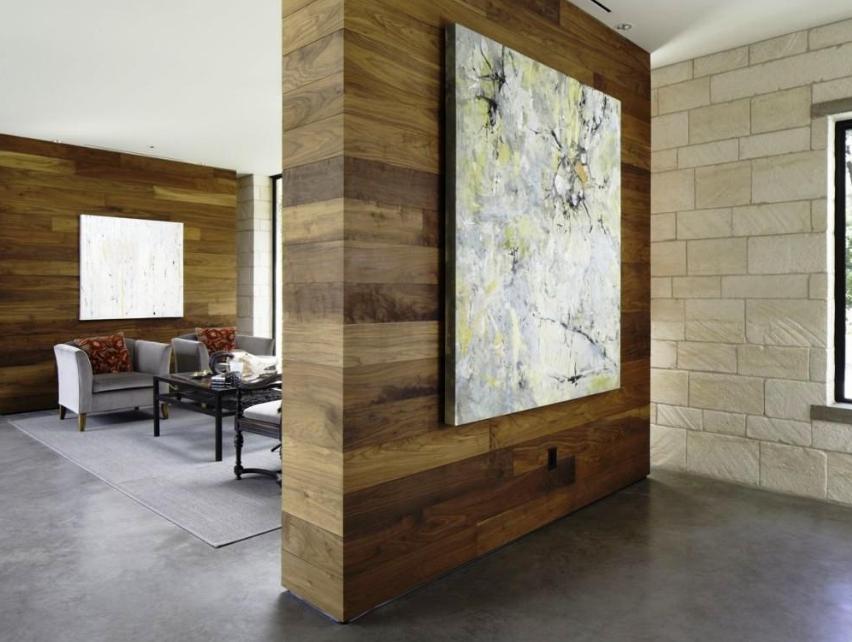 Pembatas ruang dengan desain permanen, ide desain pembatas ruangan minimalis