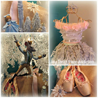 Nutcracker ballet inspired dress form Christmas tree