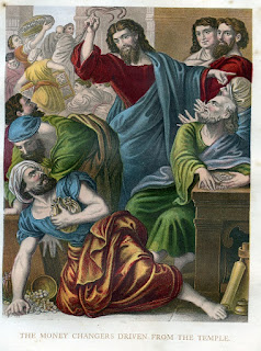 The money changers driven from the temple