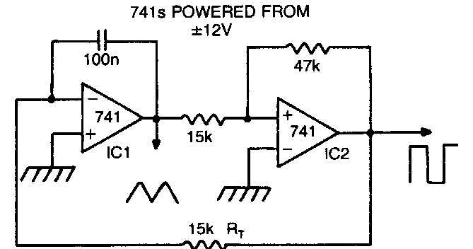 Triangle Square Wave Oscillator Circuit Diagram