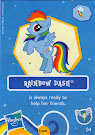 My Little Pony Wave 7 Rainbow Dash Blind Bag Card