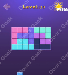 Cheats, Solutions, Walkthrough for Move Blocks Easy Level 130