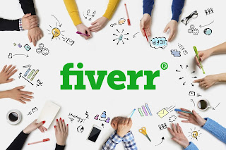 Fiverr cover picture and logo