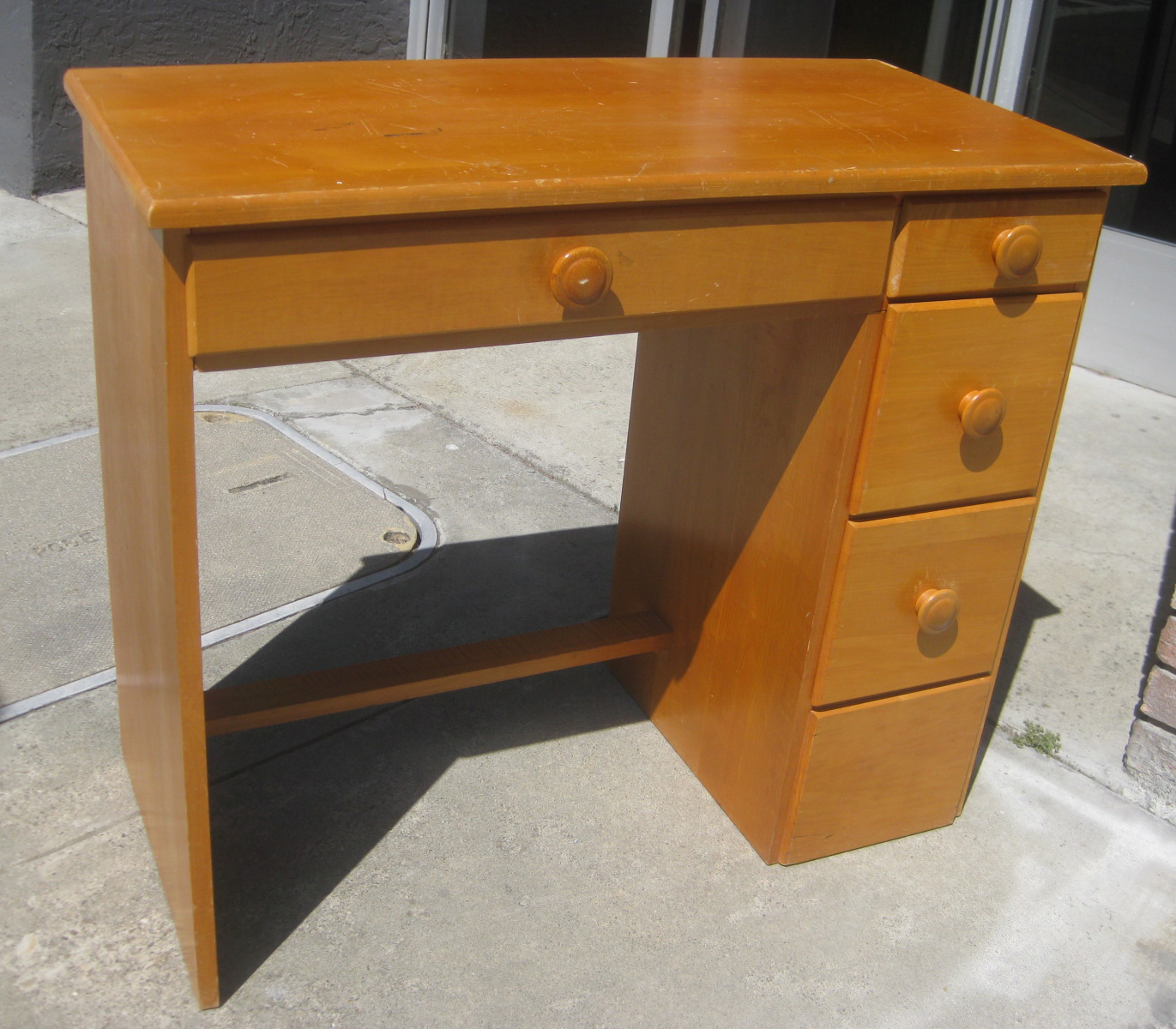 Small Wood Chair Office Chairs Seattle Uhuru Furniture And Collectibles Sold Wooden Desk 60
