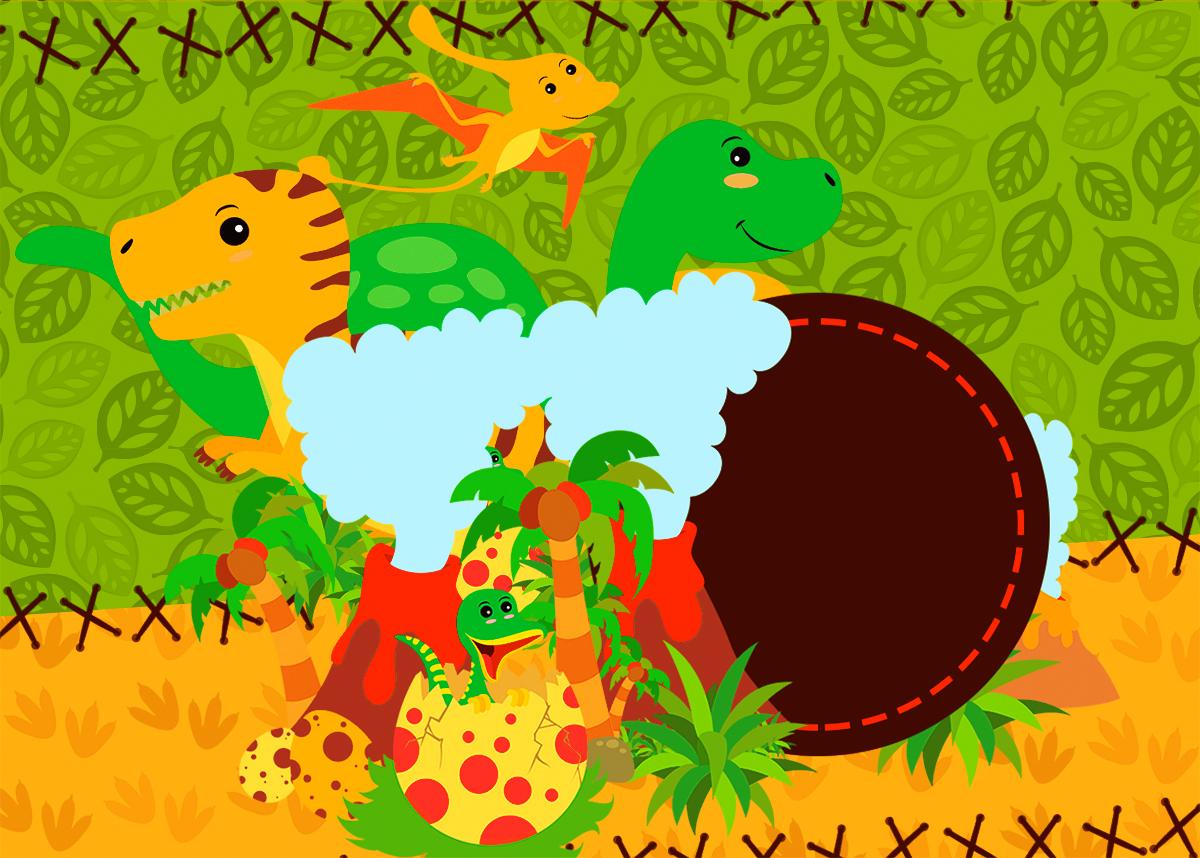 Fiesta De Dinosaurios Invitaciones De Cumpleaños Para