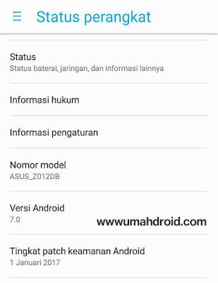 Android Nougat untuk Asus Zenfone 3