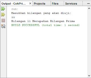 Mengecek Bilangan Prima Menggunakan Java