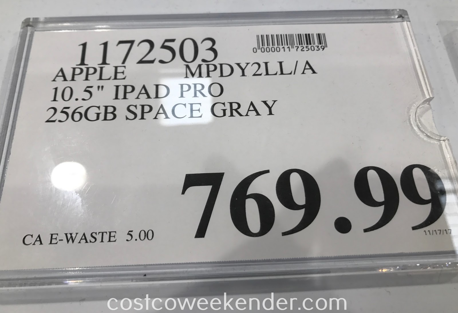 Deal for the Apple iPad Pro 10.5in 256GB Space Gray (MPDY2LL/A) at Costco