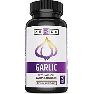Extra Strength Garlic with Allicin for Powerful Immunity Support - Enteric Coated Tablets for Easy Swallowing - Feel the Allicin Difference - 3 Month Supply