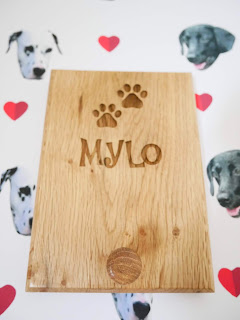personalised wooden dog lead hook