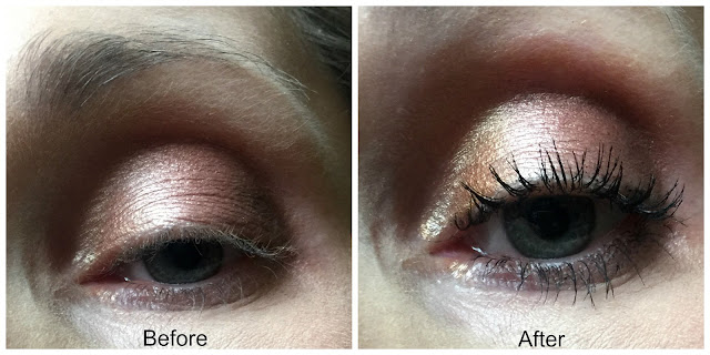 essence volume stylist curl and hold mascara before and after