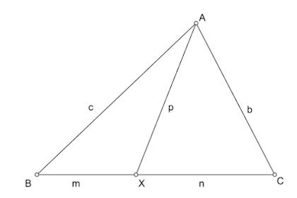 Panjang Cevian : Teorema Stewart