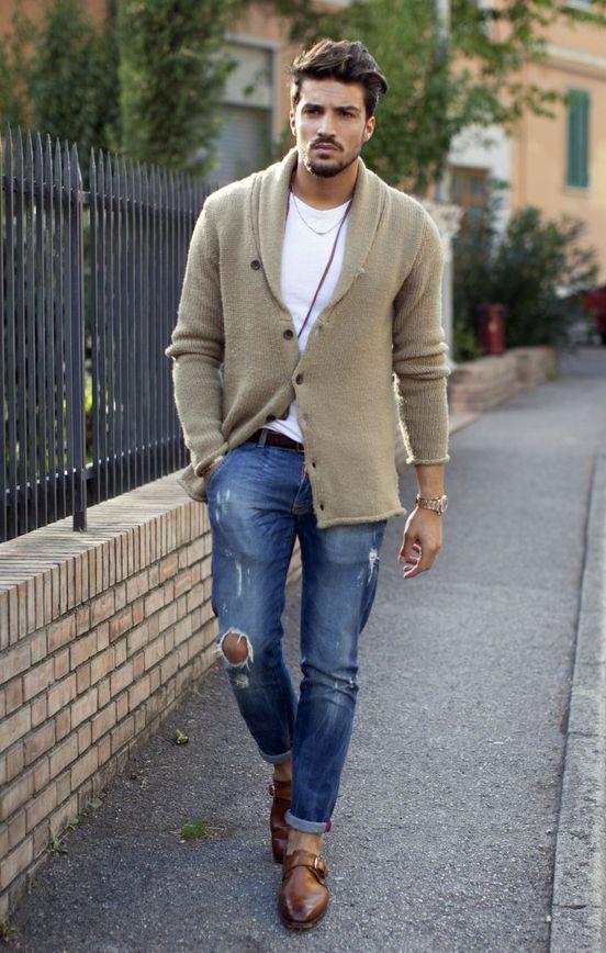 Navy Linen Suit Mens London Fashion Trendy