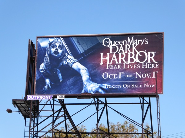 Queen Mary Dark Harbor 2015 billboard