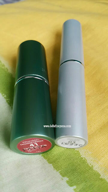 Wardah Exclusive Lipstick No. 41 (Charming Red) Wardah Intense Matte Lipstick No. 03 (Peach Perfect)