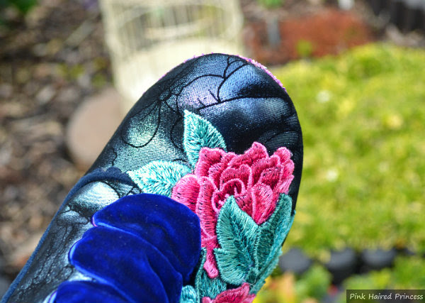 close up of toe shape on Irregular Choice Maya boot