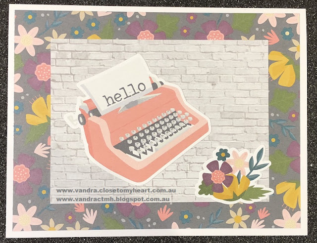 #ctmhDocumented, Documented, #CTMHVandra, hello, cardmaking, Cardmaking with Caroline & Vandra, embossing folders, embossing, daubers, wooden, Love, typewriter, flowers, floral, bricks, wall, Sponges,