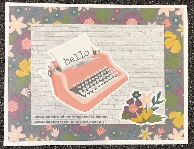 #ctmhDocumented, Documented, #CTMHVandra, hello, cardmaking, Cardmaking with Caroline & Vandra, embossing folders, embossing, daubers, wooden, Love, typewriter, flowers, floral, bricks, wall, Sponges,