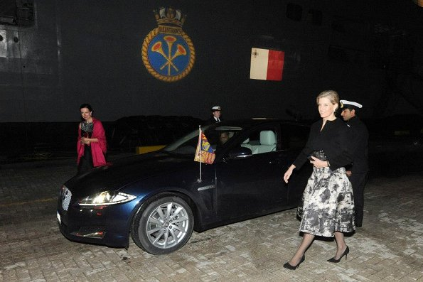 HMS ILLUSTRIOUS last night hosted a Royal Reception in Valletta on behalf of Commodore P A McAlpine