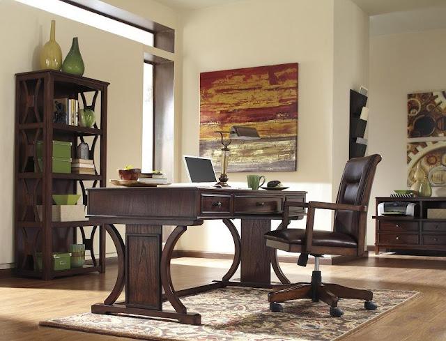 best buy devrik brown wood home office desk sets for sale