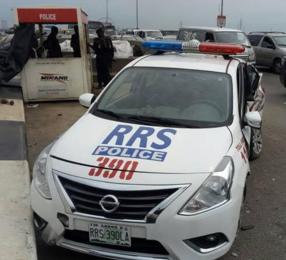customs car crash rrs patrol vehicle