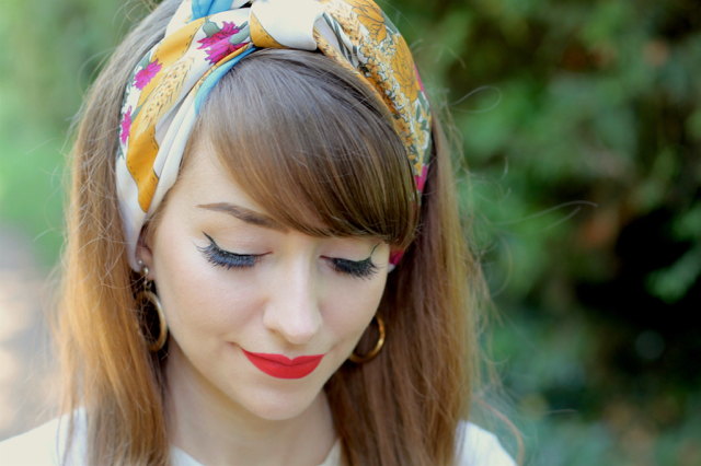 Vintage headscarf