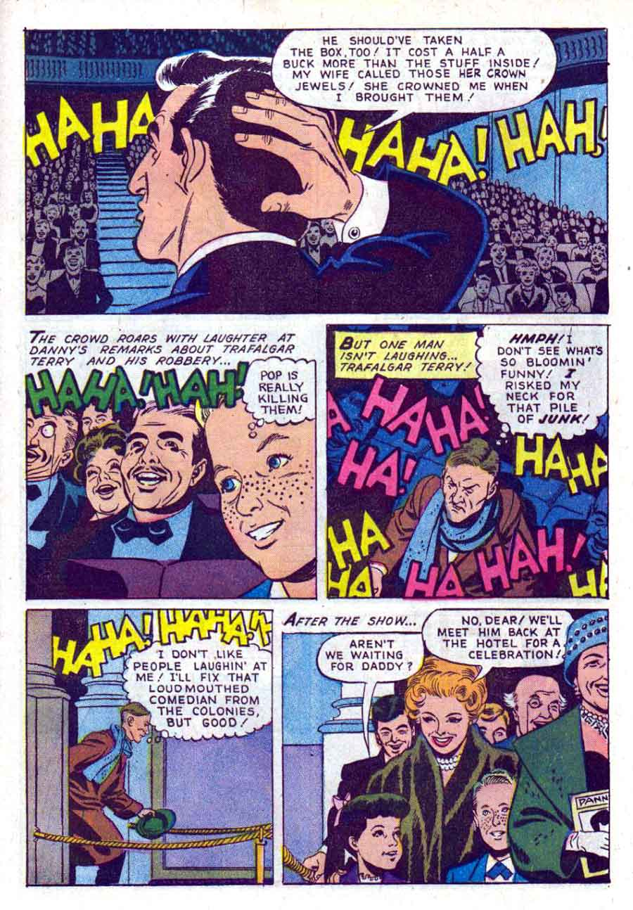 The Danny Thomas Show / Four Color Comics #1249 dell tv comic book page art by Russ Manning