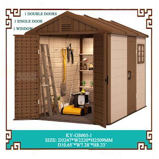 Kinying plastic garden sheds outdoor garden shed vinyl for Durable sheds