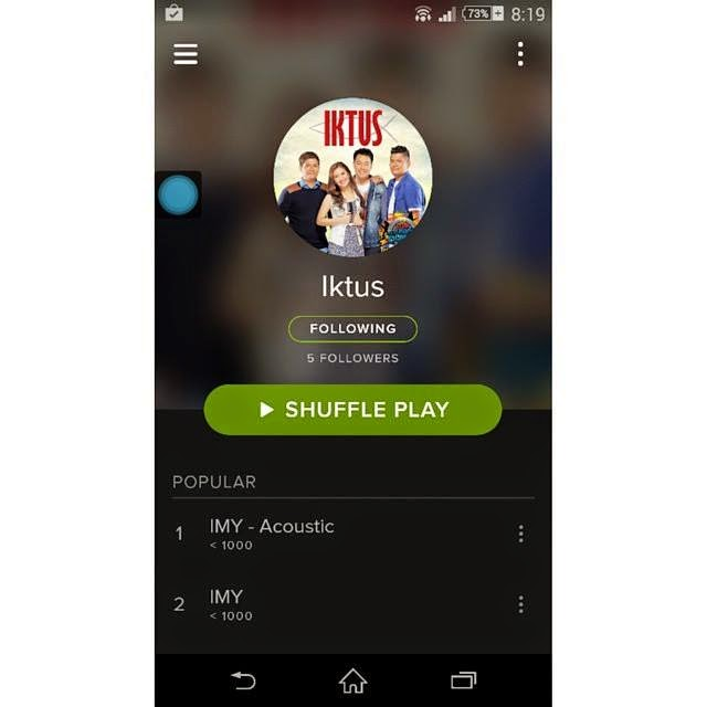 Iktus: Iktus Album now in Spotify and Deezer