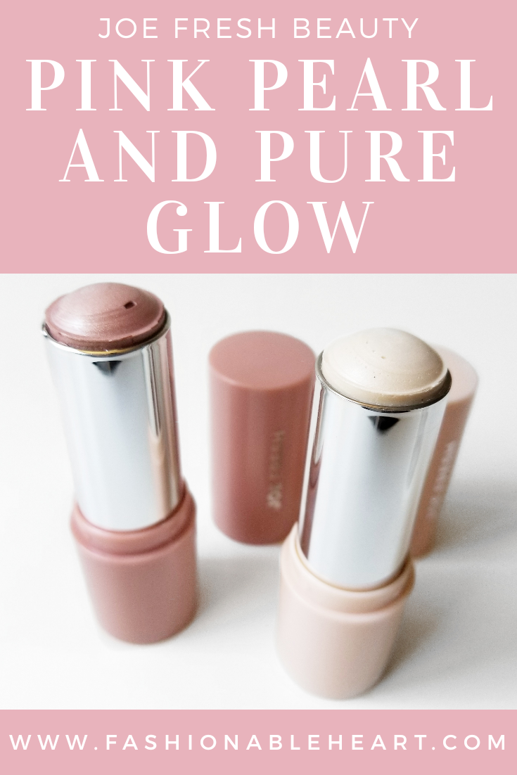 bblogger, bbloggers, bbloggerca, canadian beauty blogger, beauty blog, joe fresh, joe fresh beauty, drugstore beauty, shoppers drug mart, pink pearl, pure glow, pink, white, swatches, review, product review, highlighter, highlighting, highlight, stick, crayon, dry skin, fair skin