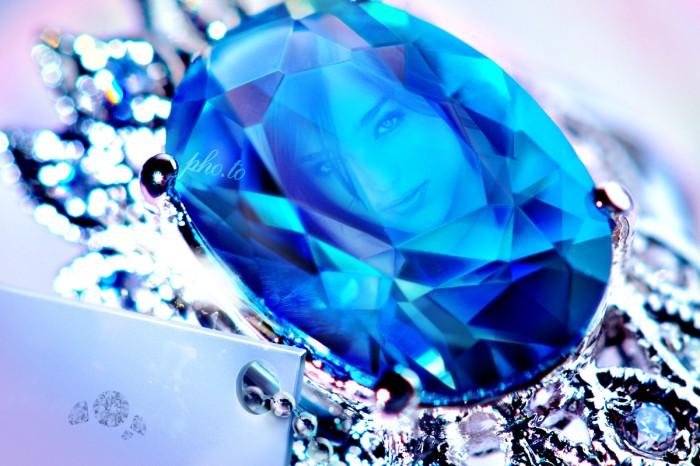 Pagina Para Editar Fotos: Fotomontaje De Diamante Azul