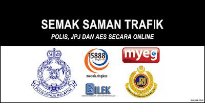Cara Semak Saman Trafik PDRM dan JPJ Secara Online Dan SMS