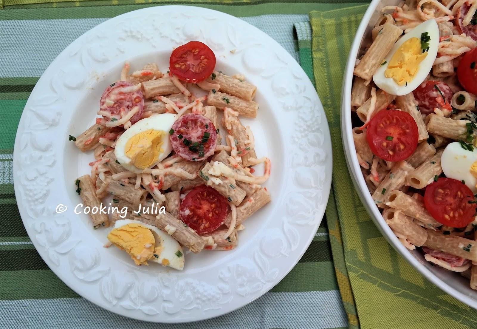 Cooking Julia Salade De Pates Au Surimi