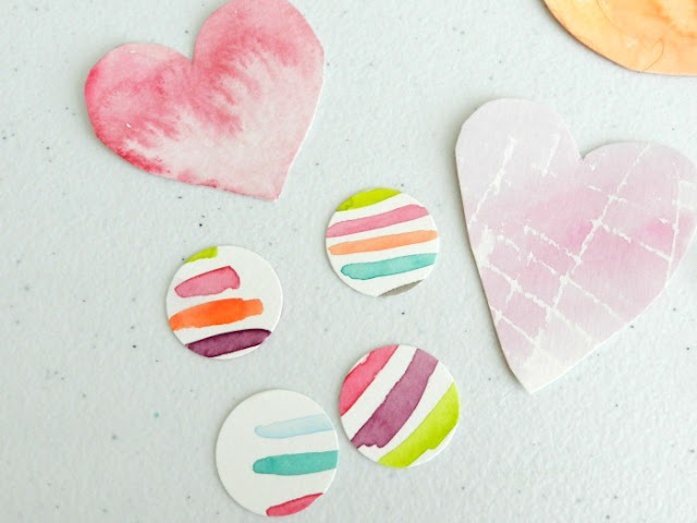 Watercolor Hearts and Dots Cut-Outs: growcreativeblog