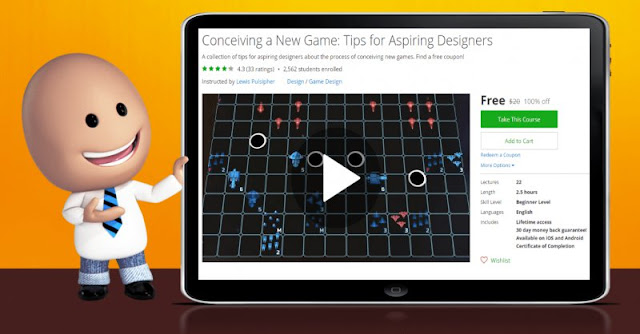 [100% Off] Conceiving a New Game: Tips for Aspiring Designers| Worth 20$