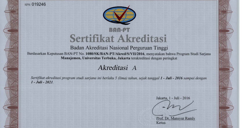 Akreditasi BAN-PT   Universitas Terbuka ~ POKJAR UT BATAM