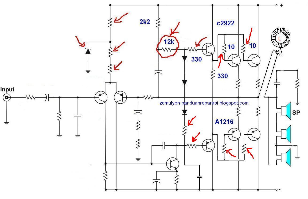 Teknik Modifikasi Amplifier Ocl 150watt 400watt